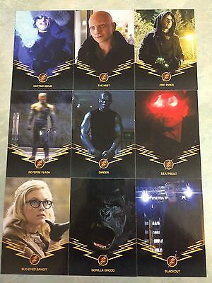 THE FLASH Season One Rogues (9) Trading Cards G1-G9