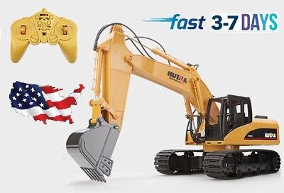 HUINA 1550 1:14 2.4GHz 15CH RC Alloy Excavator USA STOCK
