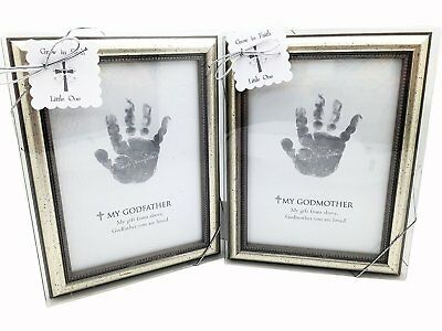 The Grandparent Gift Frame Wall Decor Godfather and Godmother Handprint