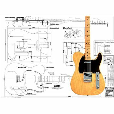 Plan Of Instrument Accessories Fender Telecaster Electric Guitar Full Scale