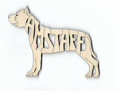 American Staffordshire Bull Terrier Amstaff Laser Cut Magnet or Ornament