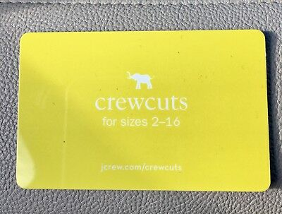 j crew and crewcuts gift card merchant credit $81.61
