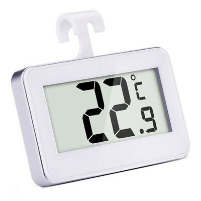 Digital Wireless Freezer/ Refrigerator Thermometer and Indoor Temperature Mon SS