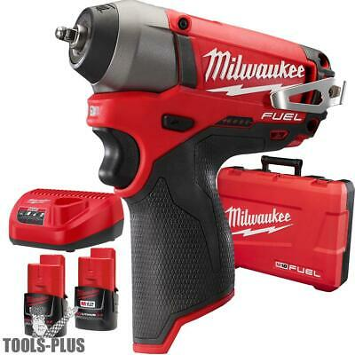 "Milwaukee 2452-22 M12 FUEL 1/4"" Impact Wrench Kit New"