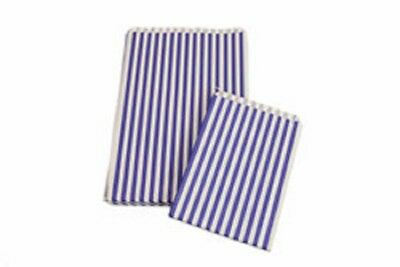 Candy Stripe Paper Bags - in Blue or Pink - Various Sizes