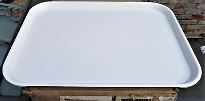 "24 CAMBRO 12"" x 16"" WHITE FAST FOOD CAFETERIA TRAYS NEW SEALED CARTON 1216FF148"