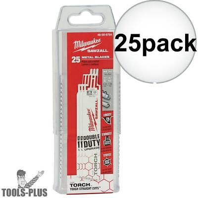 "Milwaukee 48-00-8784 18TPI 6"" Torch Double Duty Sawzall Blades 25 pack New"