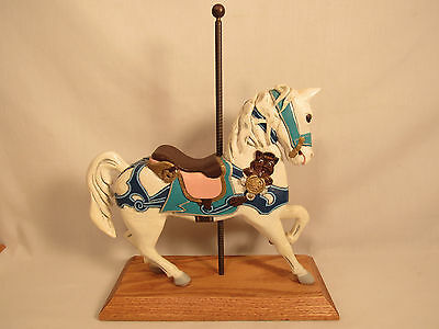 Carousel Horse Statue Hand Painted Circus Merry-Go-Round Figurine