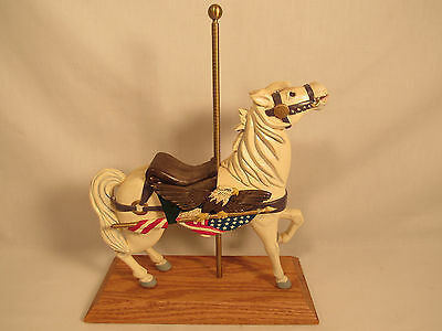Americana Carousel Horse Statue Hand Painted Circus Merry-Go-Round Figurine