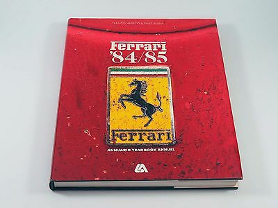 Official Ferrari Hardcover Yearbook Annual Book Brochure 1984/1985