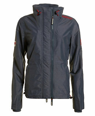Womens Superdry Technical SD-Wind Attacker Jacket Mid Charcoal Marl