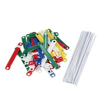 50 Pcs Office School Colorful Plastic Binding Two-Piece Fasteners SS