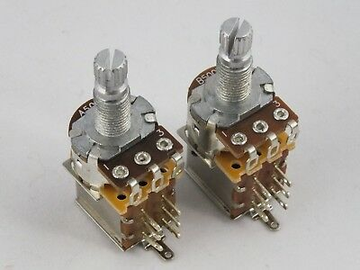 PUSH-PULL POTS Log A or Linear B 500k DPDT Potentiometers for Electric Guitars