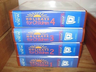 Lot of 4 Playaway Views: HOLIDAYS FOR CHILDREN 1-4