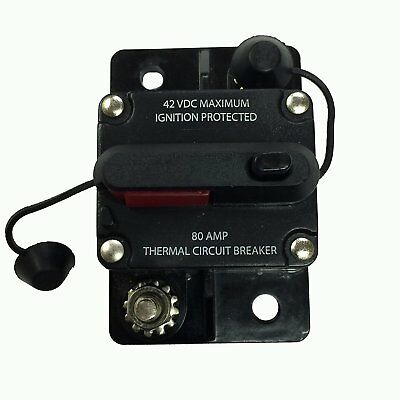 WirthCo 31201 Battery Doctor 80 Amp Manual and Switchable Reset Circuit Breaker
