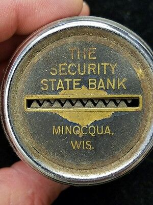 Bank Minocqua Wisconsin WI Security State Bank Bottom of Bank Missing