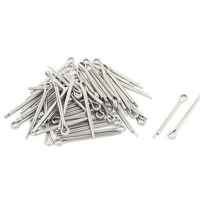 M1.2x16mm 304 Stainless Steel Split Cotter Pins Silver Tone 50pcs SS