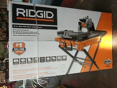 Ridgid R4040s 8 Inch Portable Tile Saw With Stand Tool Construction New