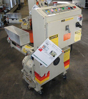 Ball and Jewell HAF-68-SCSX Plastic Granulator with Auger Feeder, Tested Good