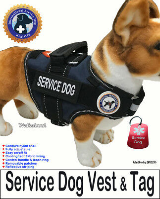 "SERVICE DOG PKG - Vest  + Dog Tag - the ""Walkabout"" by LuvDoggy"