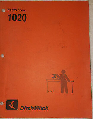 Ditch Witch 1020 Trencher Parts Book Catalog Manual