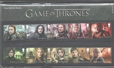 Gb 2018 Game Of Thrones Stamp Presentation Pack