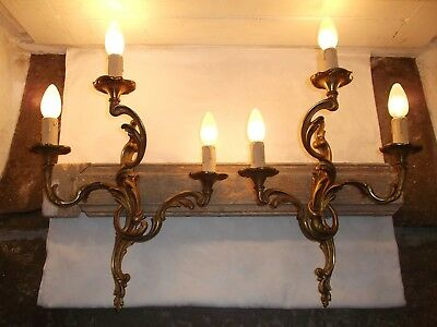 French a pair of chateau wall light really gorgeous gold patina antique/vintage