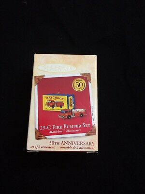 Hallmark Ornament Miniature Matchbox Fire Pumper Set 29-C Qxi8846 2002