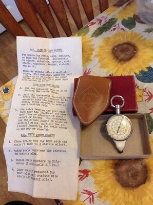 Vintage Hoffritz Compass In Box And Leather Pouch