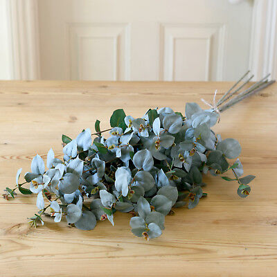 Artificial Bouquet D'eucalyptus -  5 Stems Faux Silk Eucalyptus Handmade In Uk