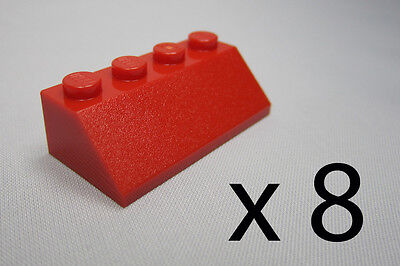 a9023. 8, Lego 2 X 4 Roof Tiles - Red
