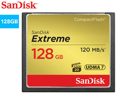 SanDisk 128GB Extreme Compact Flash Memory Card