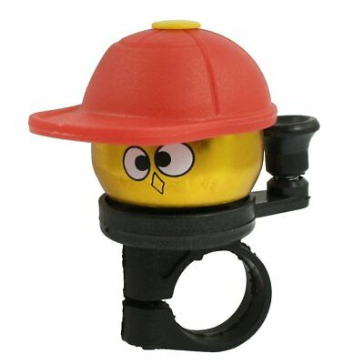 New Gold Tone Red Hatted Cartoon Boy Design Alloy Housing Bike Bicycle Bell R SS