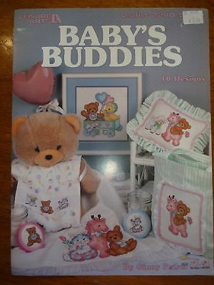 Leisure Arts Cross Stitch Pattern Leaflet 2240 Baby's Buddies-10 Designs -Afghan