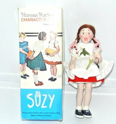 """Norman Rockwell """"Suzy"""" Character Doll 10 1/4"""" Collectible Porcelain LE"""