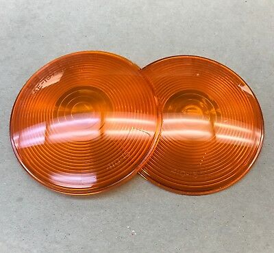 """NOS 2 x Peterson Amber Marker Lens 4.25"""" 410-15 410-15A Set of 2"""
