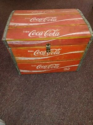 Vintage 32oz Coca Cola Crate Wooden Box with Lid Rare LOWEST BUY NOW!
