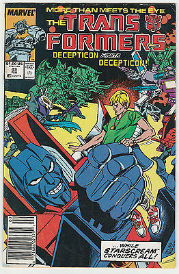 The Transformers #49 Marvel 1988 Newsstand Fine