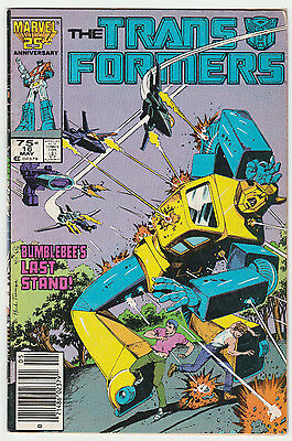 The Transformers #16 Marvel 1986 Herb Trimpe Bumblebee Cover VG