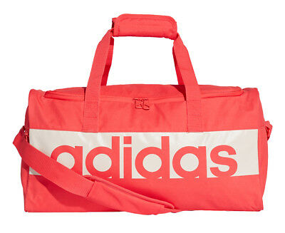 Adidas Linear Performance Duffle Bag - Real Coral/Chalk Pearl