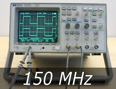 HP / Agilent 54602A 4-channel 150 MHz Oscilloscope + 2 New Probe. Very clean