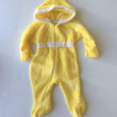 Vintage 1950's Baby WINTER SUIT Yellow Tagged Medium (18-22lbs) 6m-9m