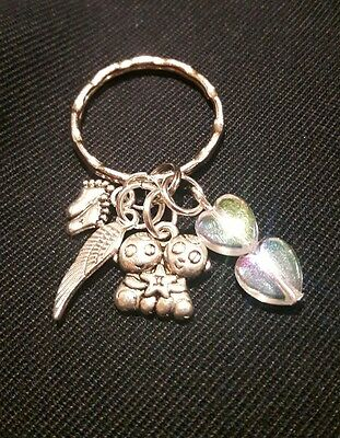 Twin Babies  Memorial Charm Baby Loss/Miscarriage Memory Keepsake charm  comfort