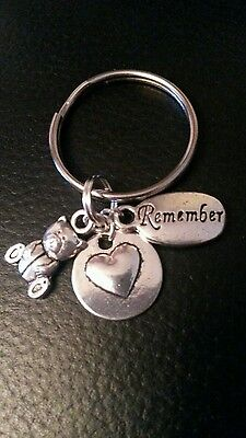 Baby loss memorial charm miscarriage /stillborn angel keepsake memory keyring