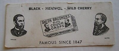 Advertising Ink Blotter, Smith Brothers Black Cough Drops,  New York