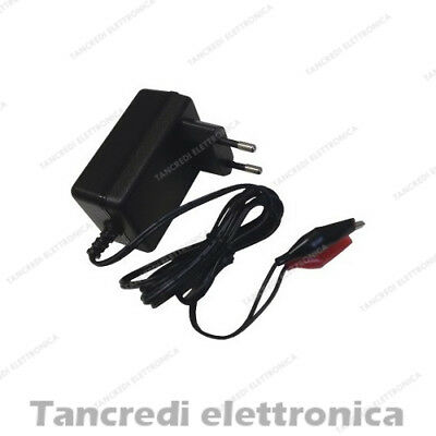 CARICABATTERIE PER BATTERIE AL PIOMBO 12V 2A LEAD ACID BATTERY CHARGER 2000mA