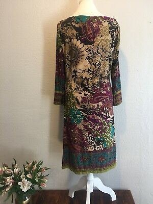 BEIGE by ECI Dress Women's Size 12 Paisley Floral Multi colored