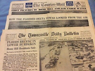 Newspaper Coverage of 1946 Townsville Floods