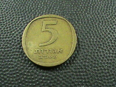ISRAEL    5  Agorot    1962  $ 2.99 maximum shipping in USA