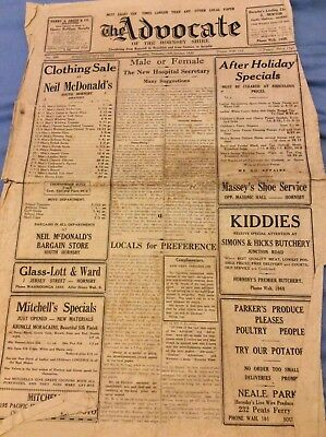 The Advocate Cover - Hornsby - 1933